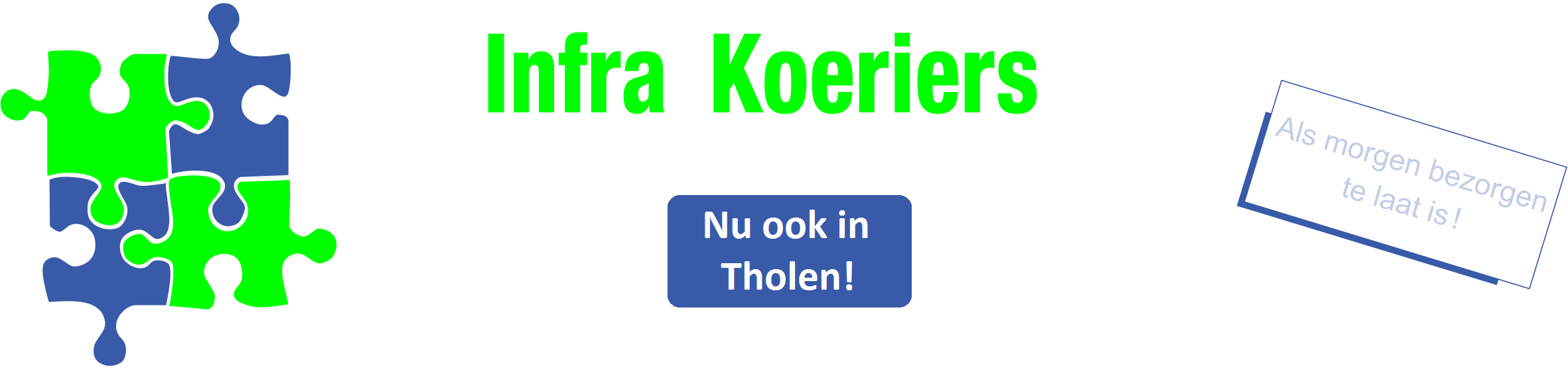 Infra koeriers logo payoff rgb